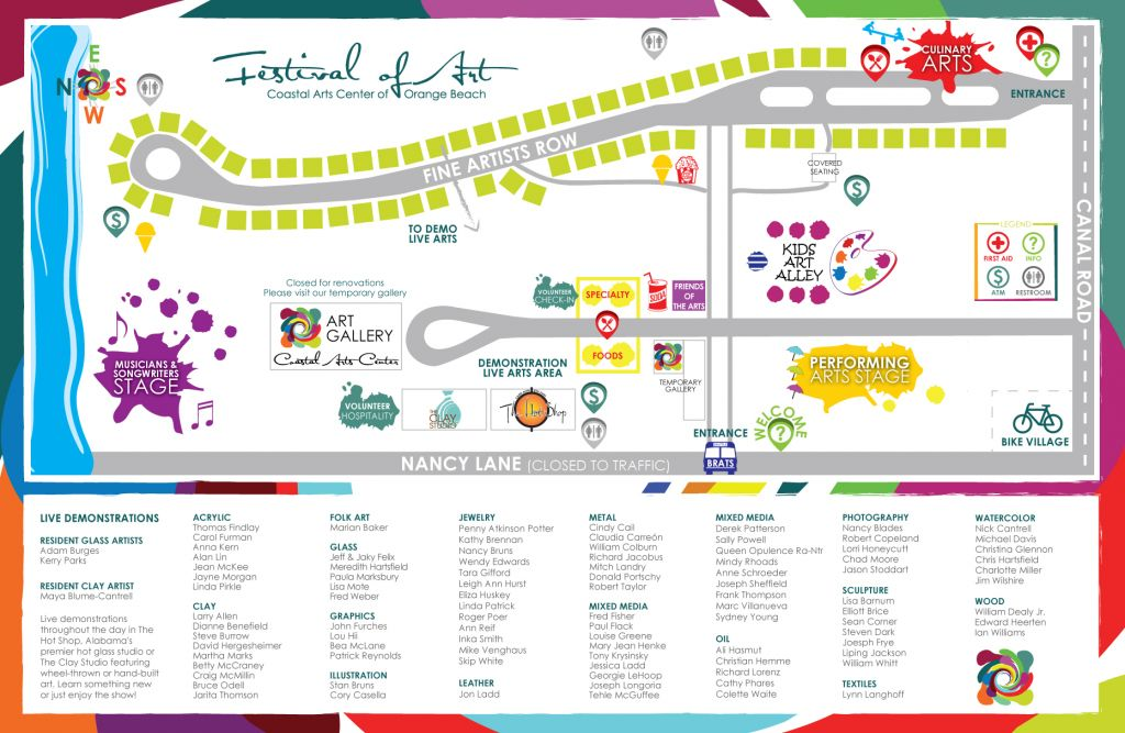2015 Orange Beach Festival of Art Event Map