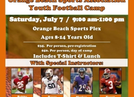 Orange Beach Sports Association Youth Football Camp