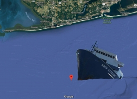Location of New Venture ship 29 54.052N 87 32.893W