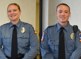 New OBPD Officers Bryan and Jinks