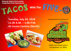 Tacos with the Five-O