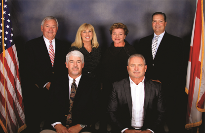 Orange Beach City Council members and Mayor Tony Kennon