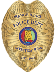 Orange Beach Police Department Investigations badge