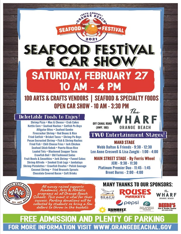 2021 Orange Beach Seafood Festival flyer