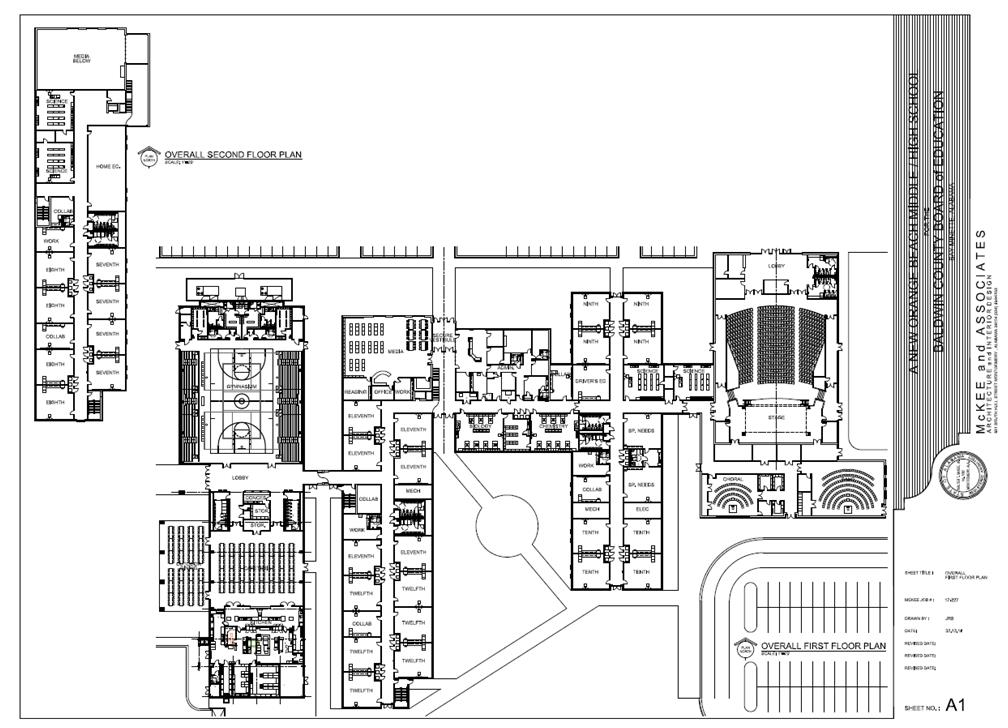82ce2519c6a537 ... site plan for the new Orange Beach Middle High School. Please note that  these designs are subject to changes.