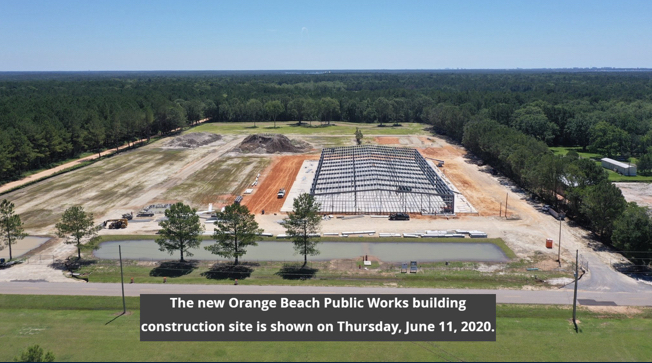 Orange Beach Public Works construction, June 2020