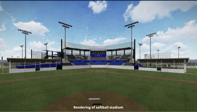 Orange Beach Sportsplex softball stadium rendering