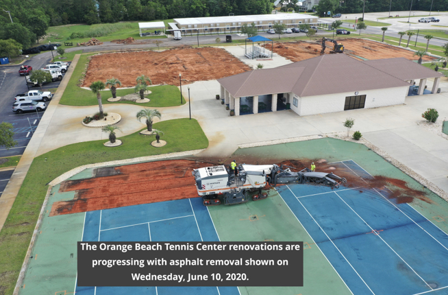 Orange Beach Tennis Center renovations, June 2020