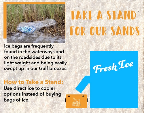Take a Stand for Our Sands info graphic on direct ice to cooler option
