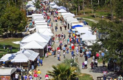 Aerial photo of the Orange Beach Festival of Art