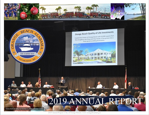 Cover of 2019 Annual Report for City of Orange Beach, Alabama