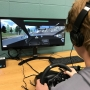 GSHS student using driver's ed simulator