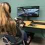 GSHS students uses driver's education simulator