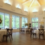An intimately small wedding setup in the gallery of the Coastal Arts Center of Orange Beach