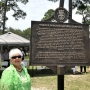 Margaret Childress-Long with historical marker, 6.19.2018