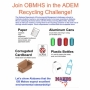 Community helped needed for OBMHS Spring Recycling Challenge - drop off recyclables before Friday morning, March 6th