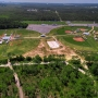 City of Orange Beach Sportsplex aerial looking southwest over the ball fields and Gulf State Park toward the Gulf of Mexico