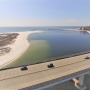 Aerial photo of Perdido Pass from January 2018