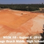Week 10 aerial photo of Orange Beach school construction site, August 6, 2018