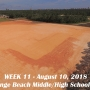 Week 11 aerial photo of Orange Beach school construction site, August 10, 2018