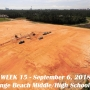 Week 15 aerial photo of Orange Beach school construction site, September 6, 2018