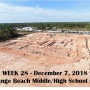 Week 28 aerial photo of Orange Beach school construction site, December 7, 2018