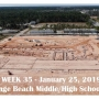 Week 35 aerial photo of Orange Beach school construction site, January 25, 2019