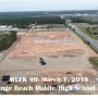 Week 40 aerial photo of Orange Beach school construction site, March 1, 2019
