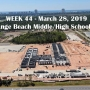 Week 44 aerial photo of Orange Beach school construction site, March 28, 2019