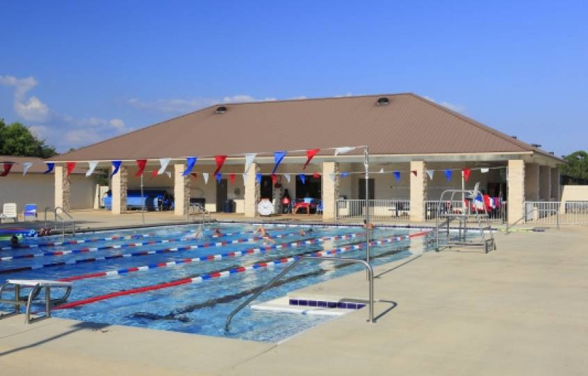 Junior Olympic-sized swimming pools