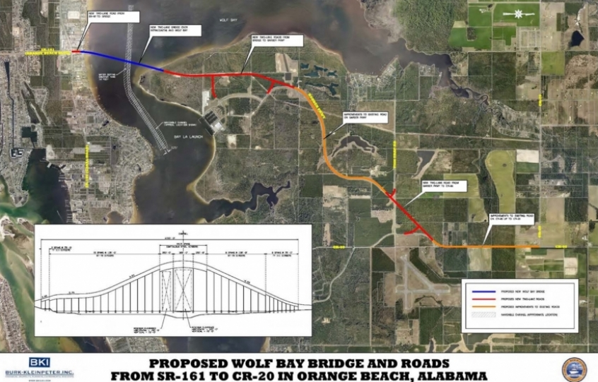 Conceptual plan for Wolf Bay bridge