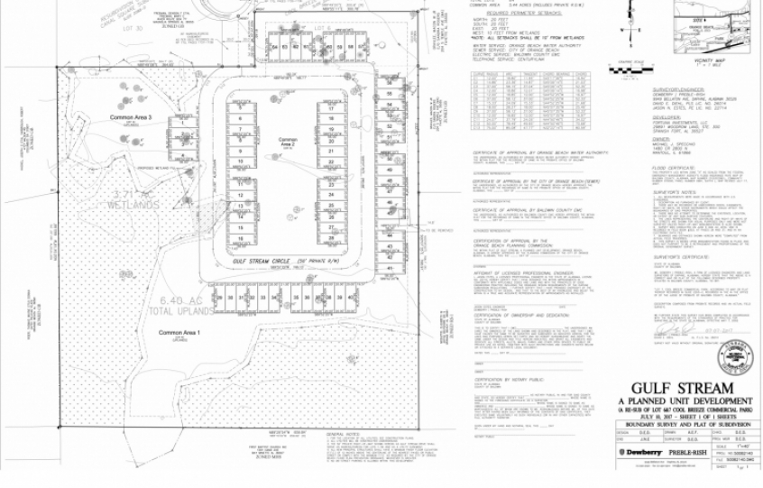 Gulf Stream Townhomes site plan