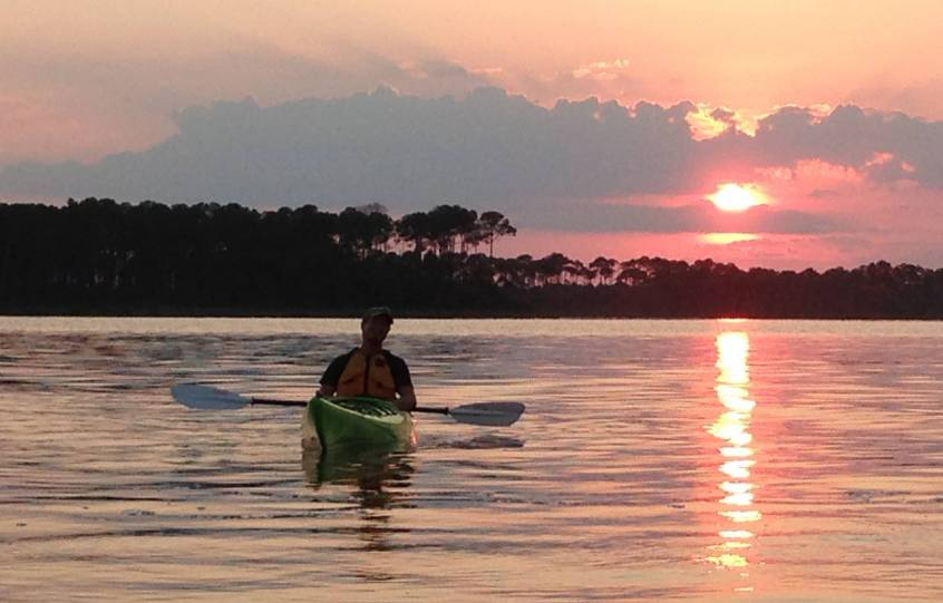 Full Moon Paddle Sunset at City of Orange Beach Wind & Water Learning Center