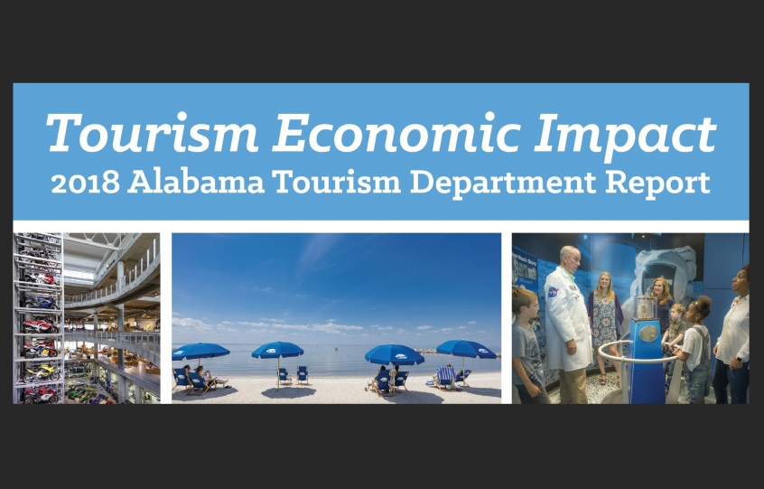 Cover of the 2018 Tourism Economic Impact Report for State of Alabama