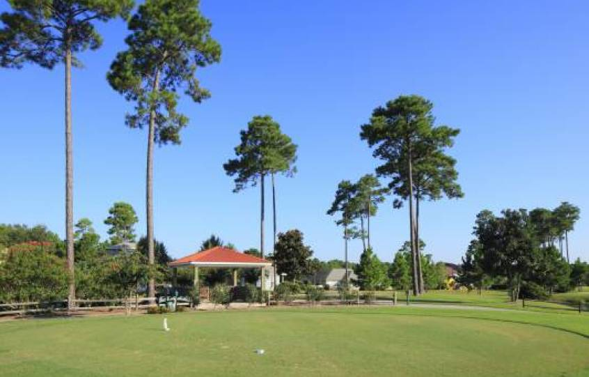 Practice putting area at Orange Beach Golf Center