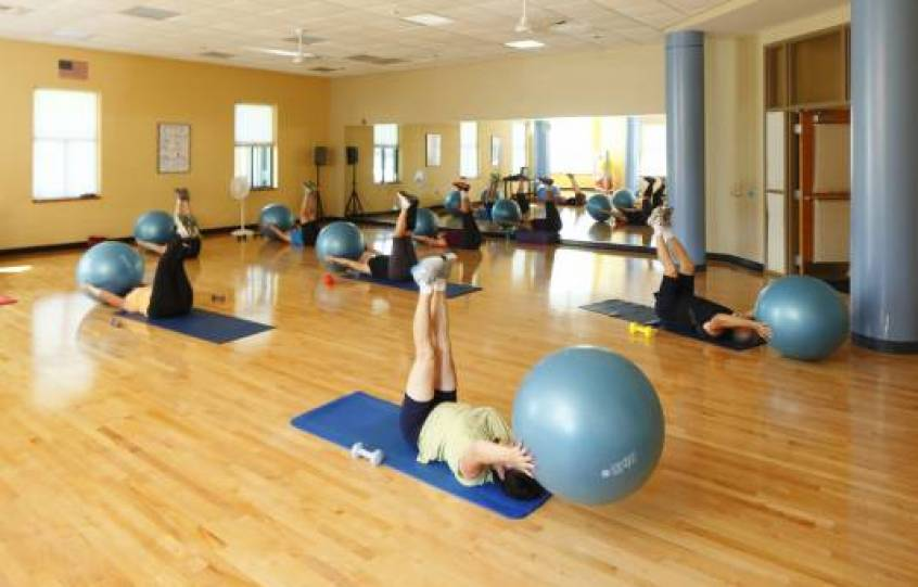 Photo of group exercise room at Orange Beach Recreation Center