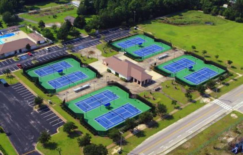 Aerial of Orange Beach Tennis Courts