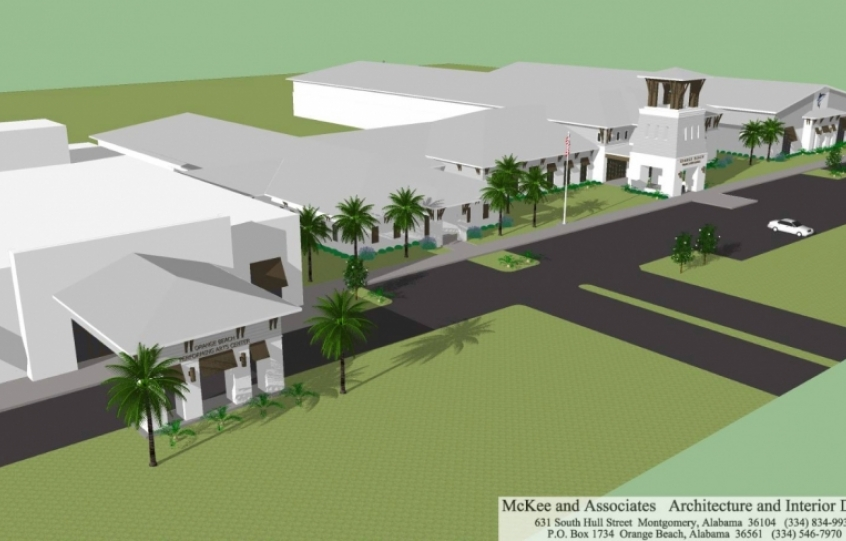 Architectural renderings of new Orange Beach Middle/High School