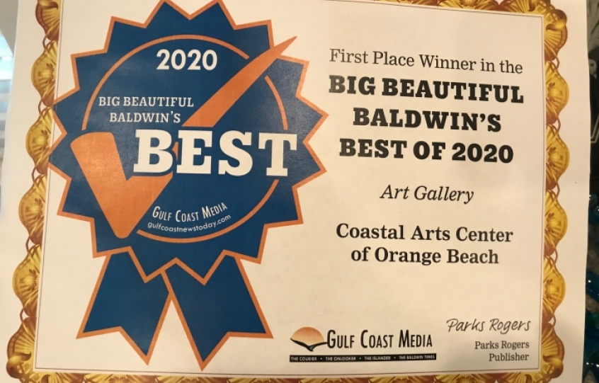 Best of Baldwin 2020: Best Art Gallery - Coastal Arts Center of Orange Beach
