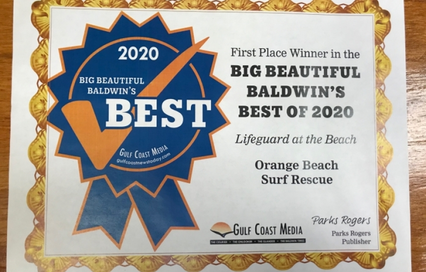 Best of Baldwin 2020: Best Lifeguards - Orange Beach Surf Rescue