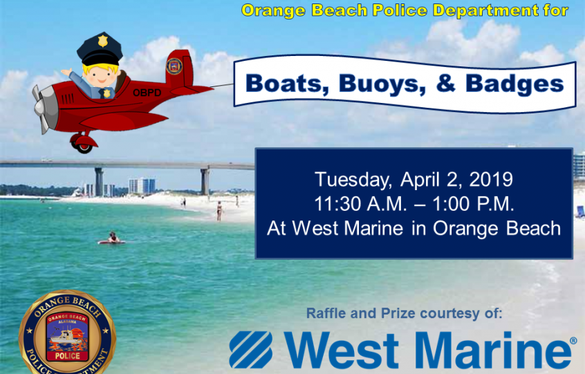OBPD Boats, Buoys, and Badges event on April 2, 2019