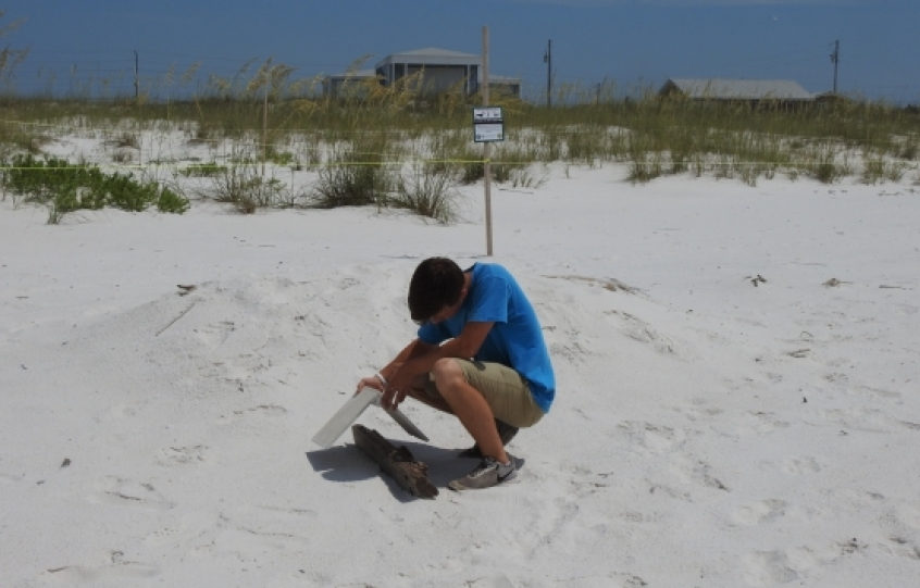 Teen taking part in Orange Beach summer work program