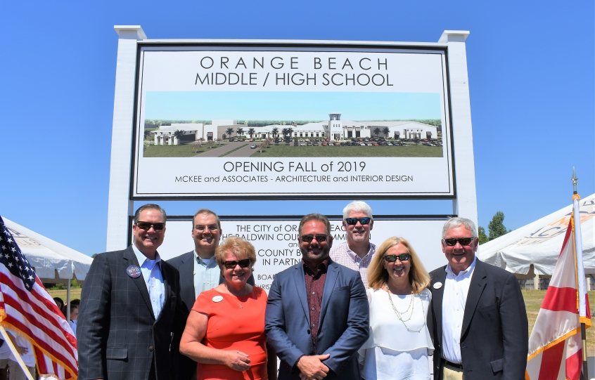 Orange Beach City Council at Orange Beach High and Middle School groundbreaking