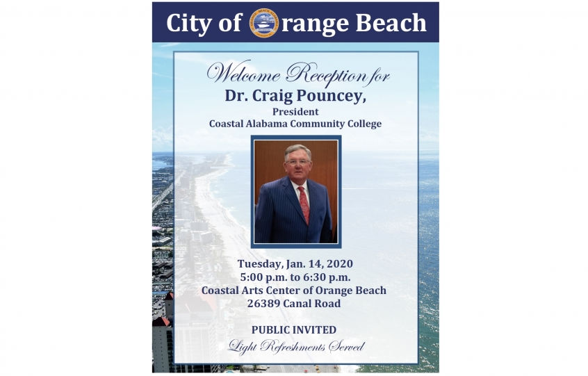 Orange Beach to host welcome reception on Jan. 14 for Dr. Craig Pouncey, new president of Coastal Alabama Community College