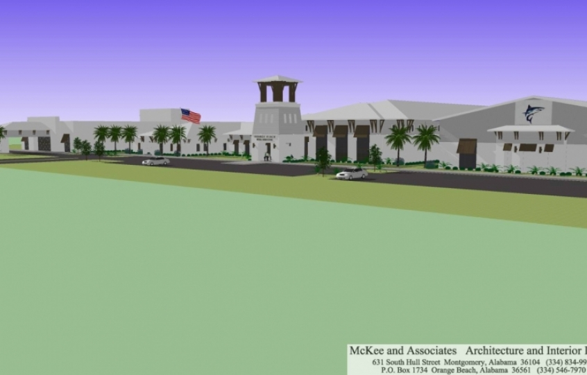 Architectural Renderings Of New Orange Beach Middle High School