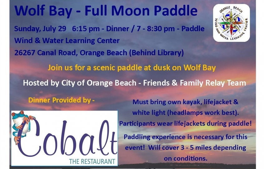 Full Moon Paddle Flyer - July 29 2018