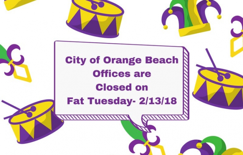 City offices closed for Fat Tuesday