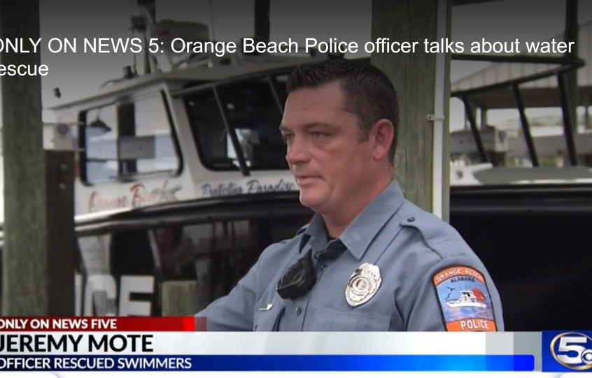 WKRG: Orange Beach Police officer talks about water rescue