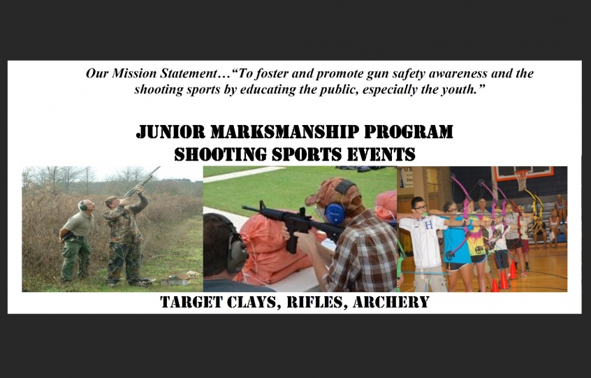 Top of flyer promoting the 2019 Junior Marksmanship Program