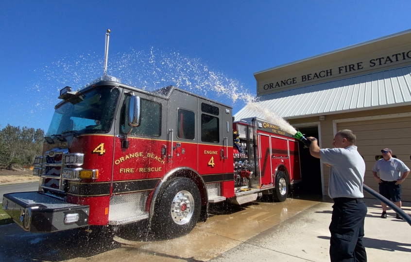 Orange Beach Fire hold blessing ceremony for new Engine 4 on Ono Island